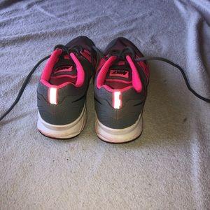 Pink and gray Nikes